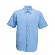 Men Short Sleeve Poplin Shirt